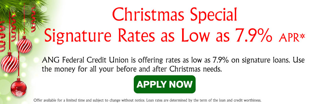 Christmas Special Signature Rates as Low as 7.9% APR